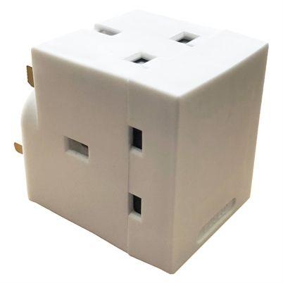 13A 3 Way Plug Adaptor