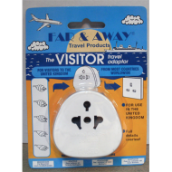 Tourist Adaptor For Overseas Visitors To The UK