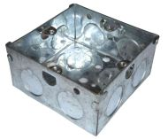 1 Gang 35mm Galvanised Steel Knockout Box
