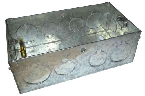 2 Gang 47mm Galvanised Steel Knockout Box