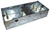 Dual Galvanised Steel Knockout Box