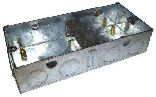 Dual Galvanised Steel Knockout Box