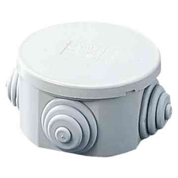 Gewiss GW44001 Small Round Plastic Junction Box with Glands