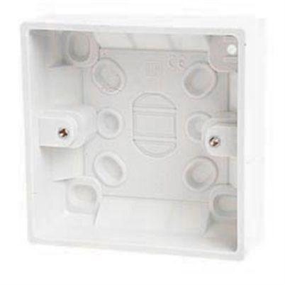1 Gang 32mm Surface Pattress Back Box