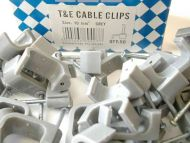 10mm Twin and Earth Cable Clips (50 Pack)