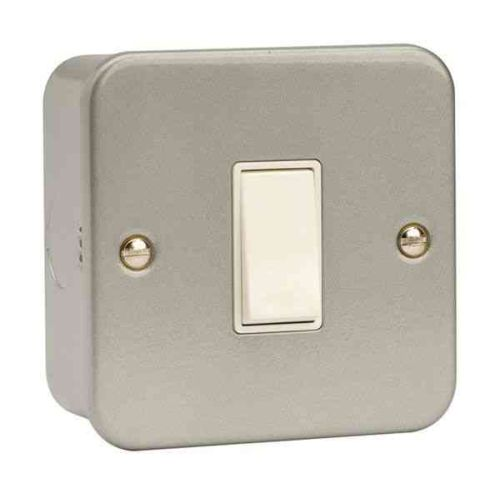 Metal Clad Light Switch 1 Gang 2 Way | Click CL011