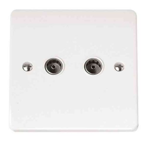 TV Coaxial Socket 2 Gang