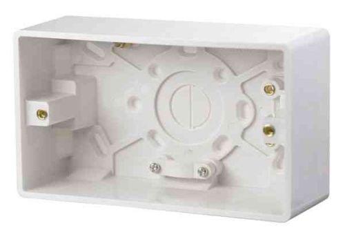 2 Gang 47mm Surface Mounting Pattress Box