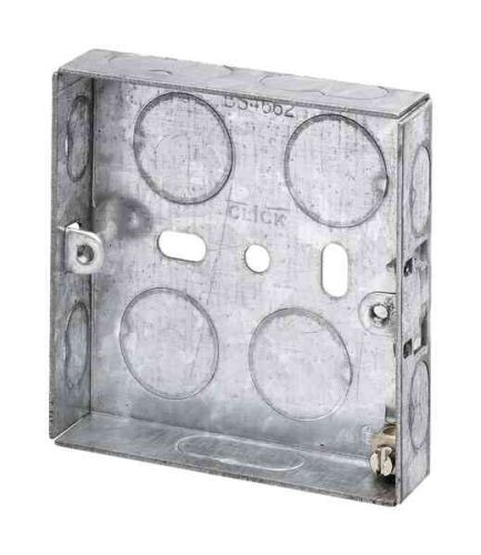 1 Gang 16mm Galvanised Steel Knockout Box
