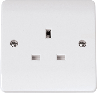 13A Single Socket Outlet 1 Gang Un-switched | Click CMA030