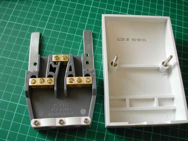 Dual Cooker Appliance Outlet Plate 45a 45 Amp