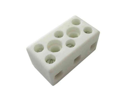 5A 3 Way Ceramic Connector Block | High Temperature