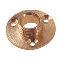 1/2 Inch Brass Lamp Holder Backplate