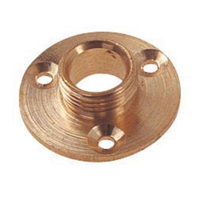 1/2 Inch Brass Lamp Holder Backplate
