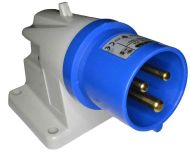 16A Blue Male Wall Plug | IP44 220-240V