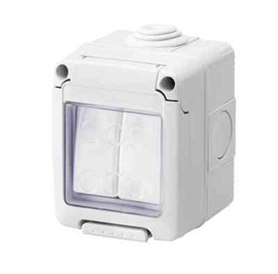Outdoor Light Switch 2 Gang 2 Way IP55 Weatherproof
