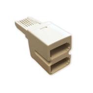 Telephone Socket Double Adaptor