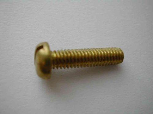 Pan Head Brass Screw M4 (4mm) x 16mm