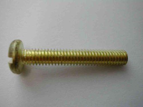 Pan Head Brass Screw M4 (4mm) x 25mm