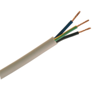 3 Core 0.5mm White Flexible Cable Per Metre