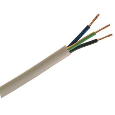 2183Y 0.5mm 3 Core White Flex Cable Per Metre