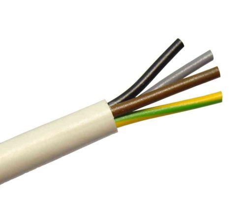 0.75mm 4 Core White Flex Cable Per Metre | 3184Y