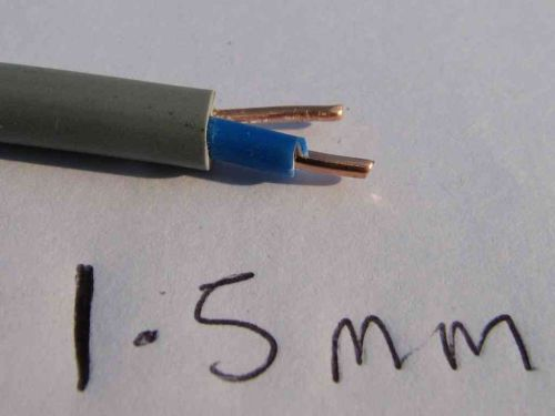 1.5mm Single Core Blue With Earth Cable Per Metre | 6241Y