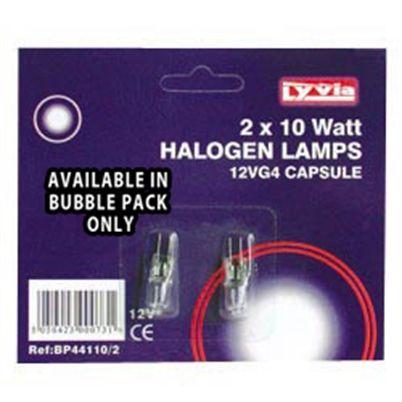 G4 12V 10W Halogen Light Bulb (2 Pack)