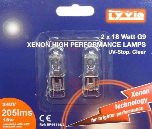 G9 18W Halogen Light Bulb (2 Pack)