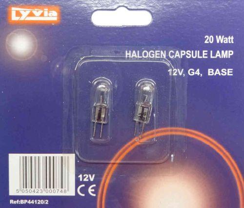 20W Halogen Low Voltage G4 Light Bulb (2 Pack)