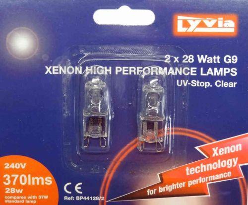 G9 28W Halogen Light Bulb (2 Pack)