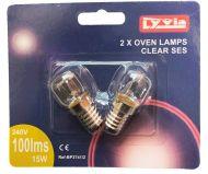 Oven Light Bulb 15W SES E14 300°C (2 Pack)