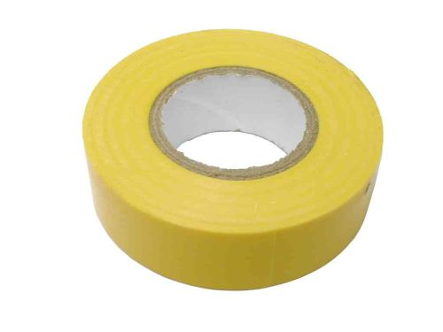 Yellow PVC Electrical Insulation Tape 19mm x 20m
