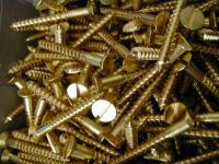 Brass Slotted Screws #8 x 1-1/2 Inch (Box of 200)