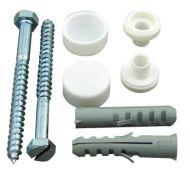 Toilet Pan Fixing Kit Coach Screws & Plastic Plugs
