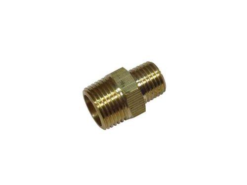 3/8 Inch x 1/4 Inch BSP Brass Reducing Hex Nipple