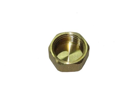 1/2 Inch BSP Brass Cap / Blank Nut