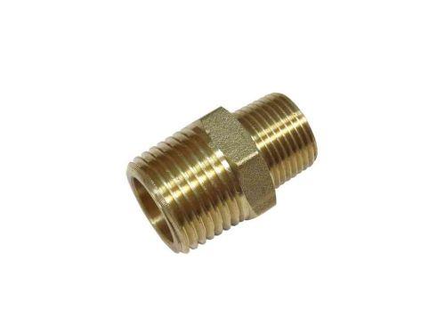 "Brass Hex Nipple Reducing 1/2"" x 3/8"" BSP"