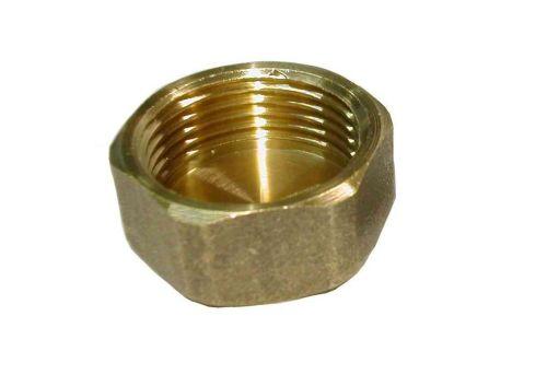 """3/4"""" BSP Brass Blanking Cap / Blank Nut"""