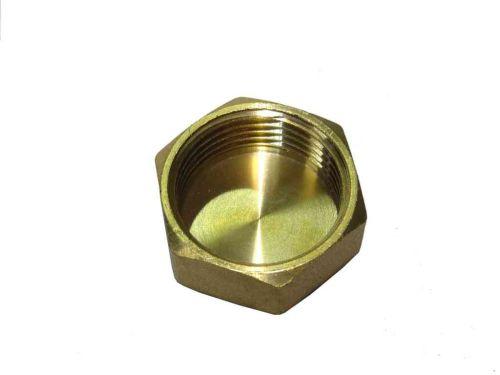 1 Inch BSP Brass Cap / Blank Nut