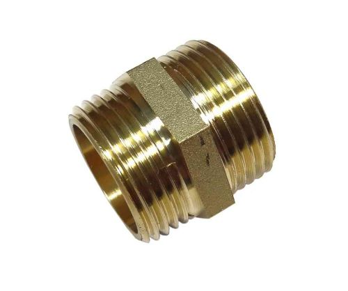 "Brass Hex Nipple 1"" BSP"