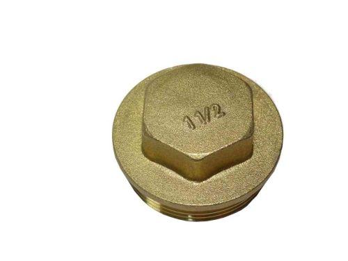 "Brass Flanged Blanking Plug 1-1/2"" BSP"