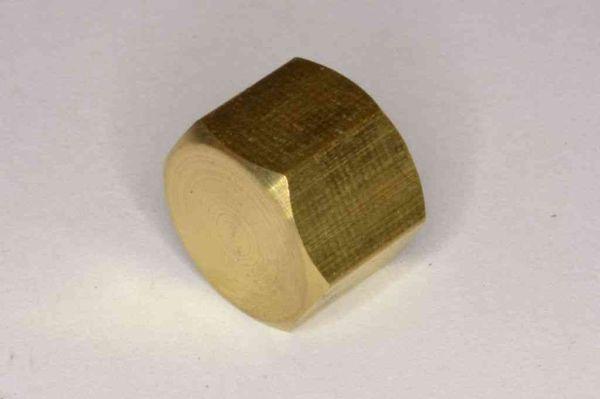 1 8 Inch Bsp Brass Cap Blank Nut Stevenson Plumbing