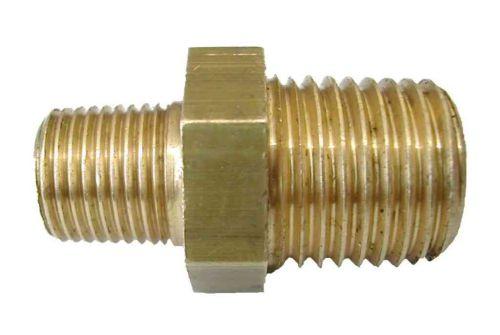 "1/4"" x 1/8"" BSP Brass Hex Reducing Nipple"
