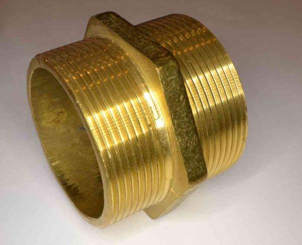2 Inch Bsp Brass Hex Nipple Stevenson Plumbing