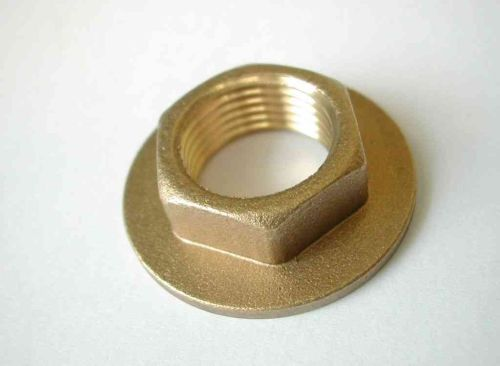 3/8 Inch BSP Brass Flanged Back Nut