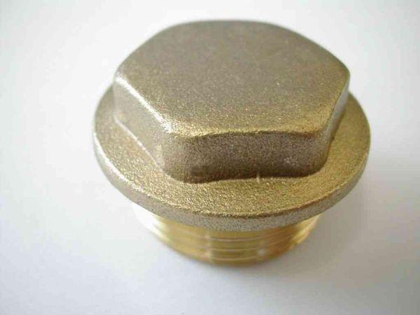 3 4 Inch Bsp Brass Flanged Plug Stevenson Plumbing