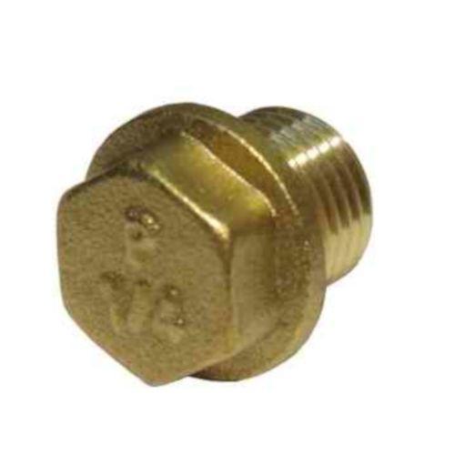 1/4 Inch BSP Brass Flanged Plug