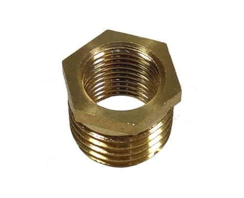 1/4 Inch x 1/8 Inch BSP Brass Hex Bush