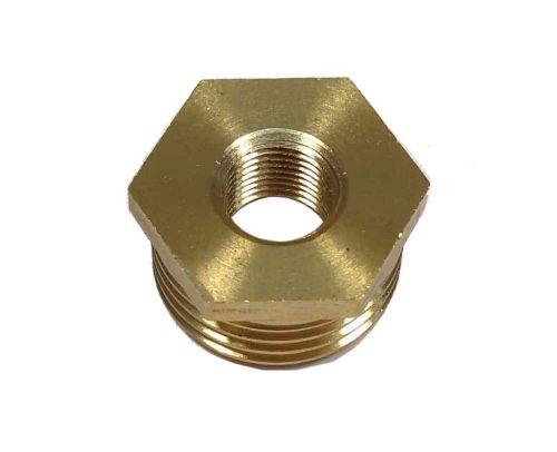 """1/2"""" x 1/8"""" BSP Brass Reducing Hexagon Bush"""